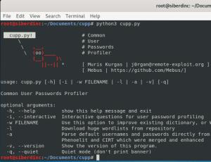 Cupp ile Özel Wordlist Oluşturma – Kali Linux