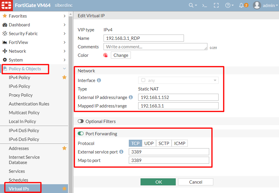 Firewall Virtual IP Nasıl Yapılır ?